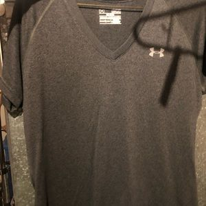 grey semi fitted athletic tee